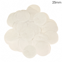 White Tissue Paper Confetti | 25mm Round | 100g Bag